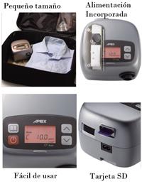 Características de CPAP Apex Sense